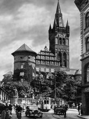 Старый Кенигсберг.  Вид на кафедральный собор.